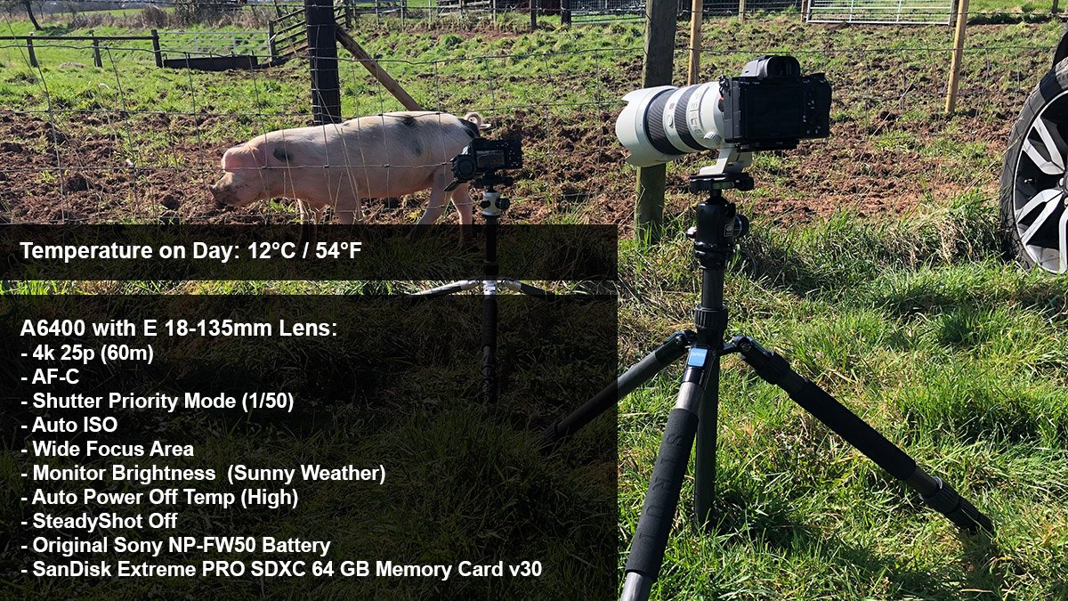 sony a6400 overheating piglet test settings
