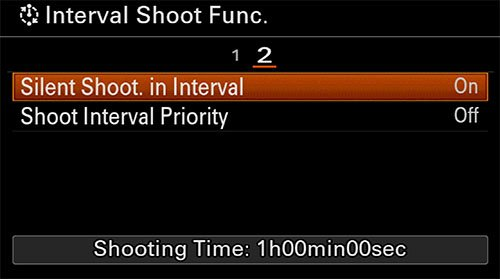 sony a6400 time-lapse setup interval shooting 2