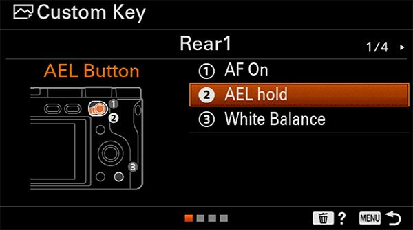 sony a6400 back button focus ael-hold