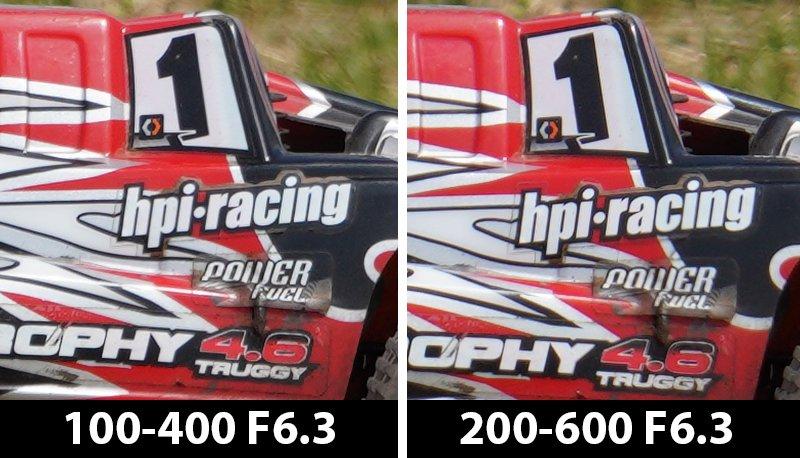 400mm comparison rc buggy f/6.3