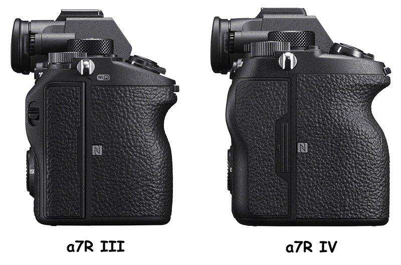 sony a7riii vs a7r iv left-side comparison