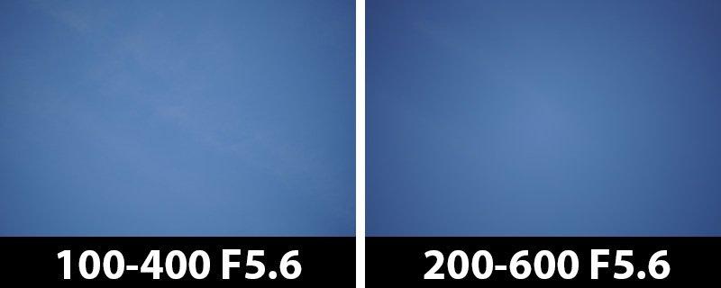 200mm vs 200mm vignetting corrections off