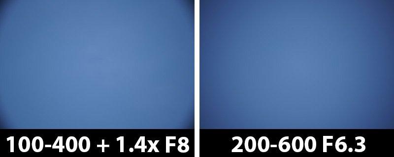 560mm vs 600mm vignetting corrections off