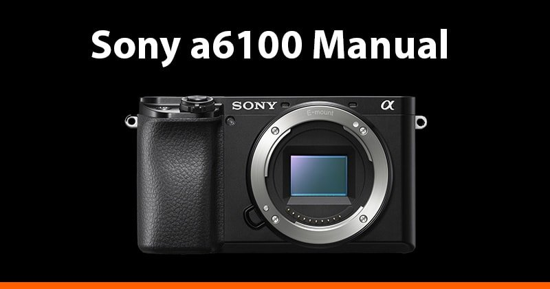 Sony a6100 Manual