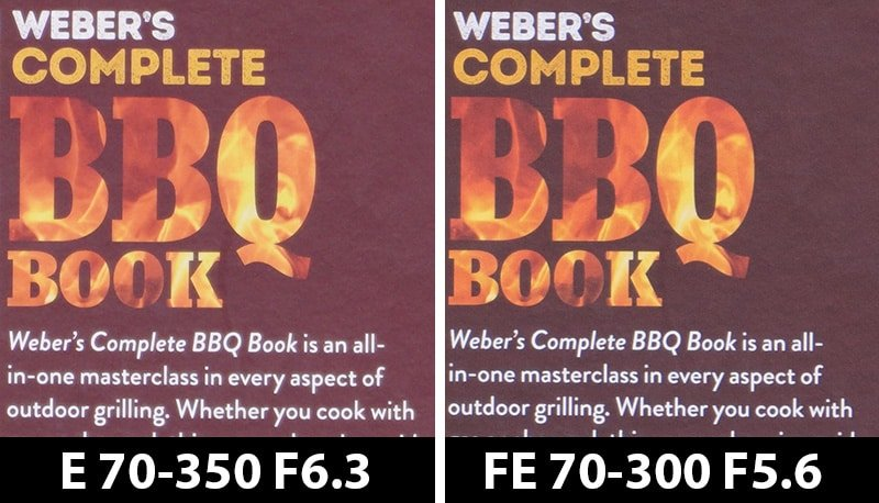 350mm comparison bbq max focal max aperture