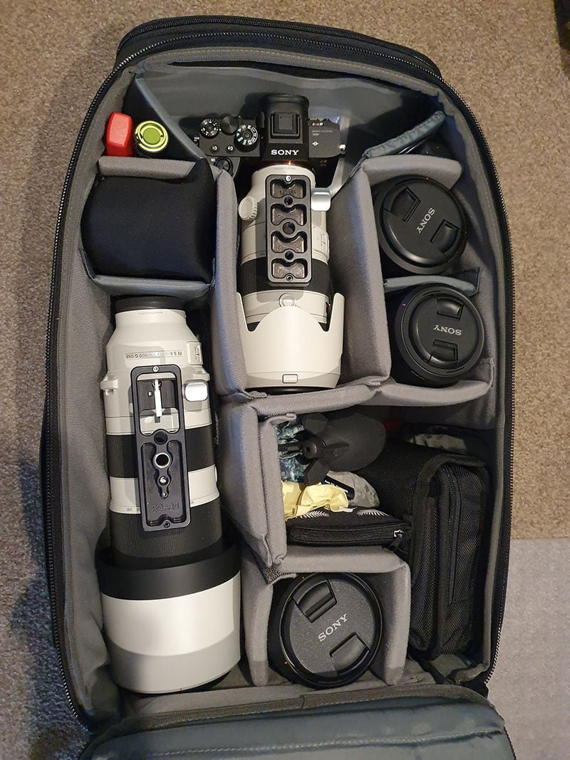 Tenba AXIS 32L Backpack with Sony 200-600 Inside