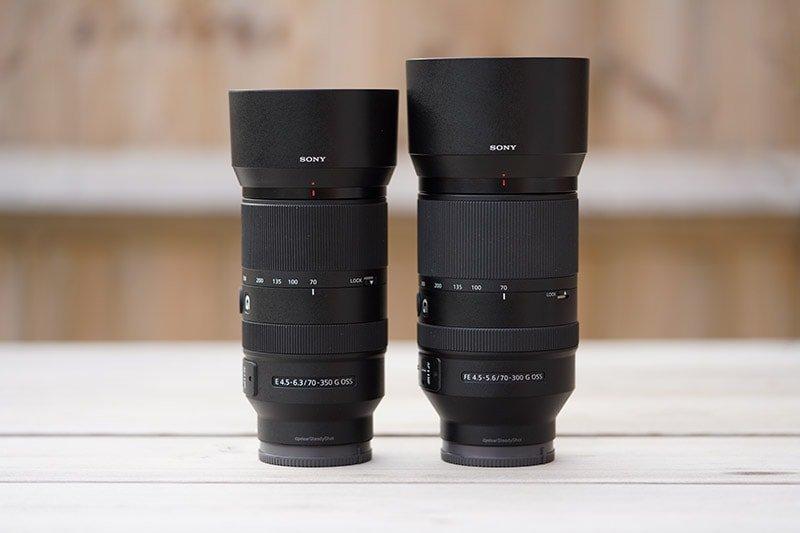sony 70-350 vs 70-300 lens hood