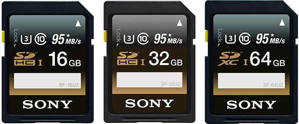 Sony Professional Series UHS-I SD Cards