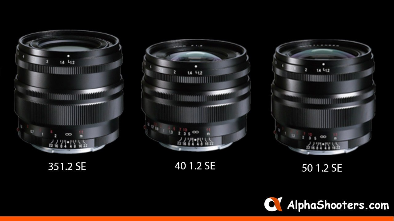 Voigtlander Announces 35mm F1.2, 40mm F1.2 & 50mm F1.2 SE Lenses