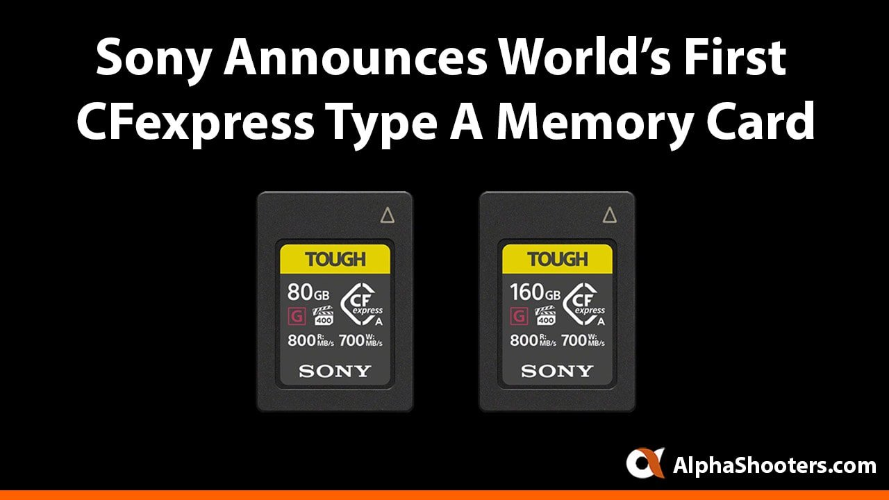 Sony CFexpress Type A Memory Cards