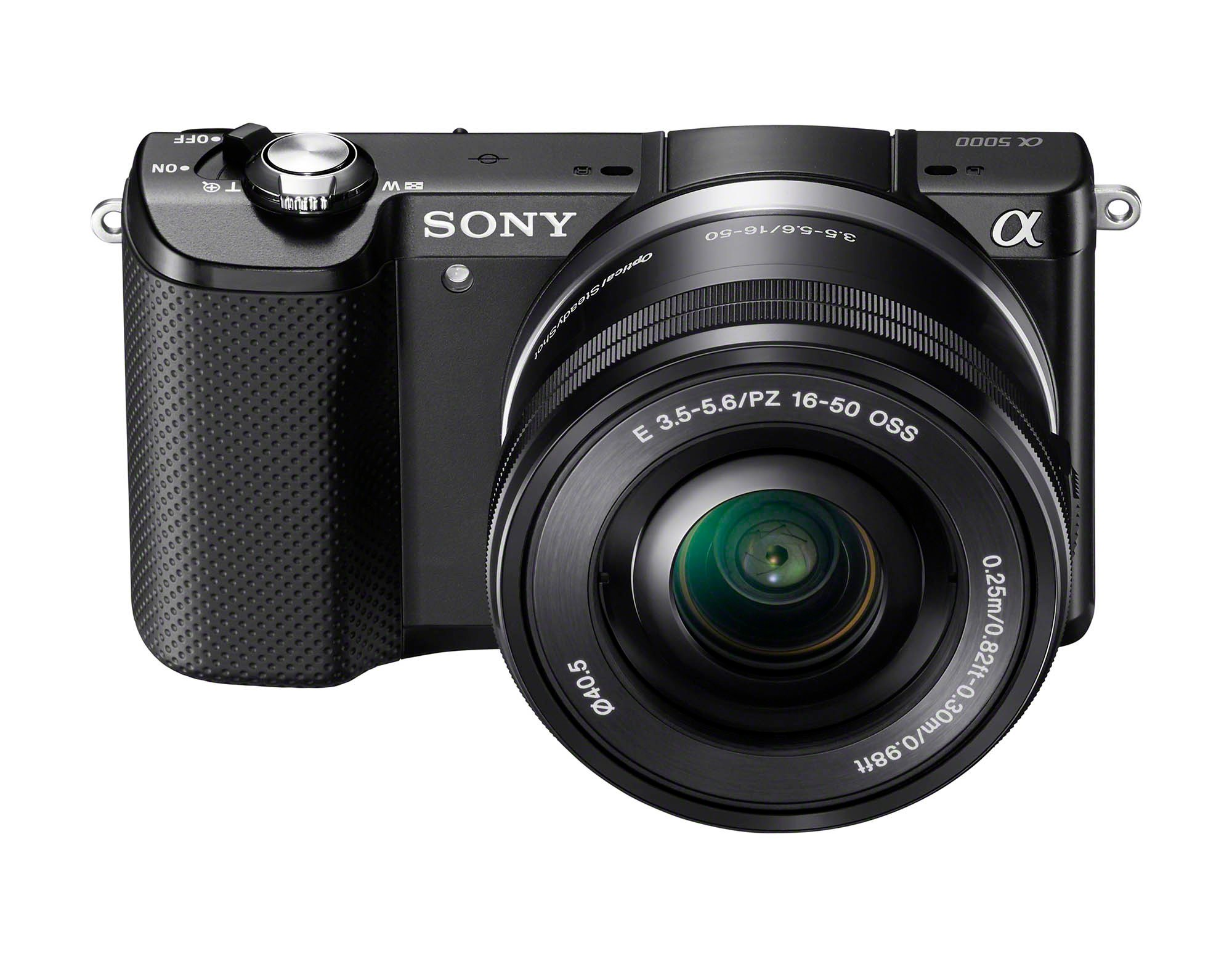 Sony a5000 Front SELP1650 Black