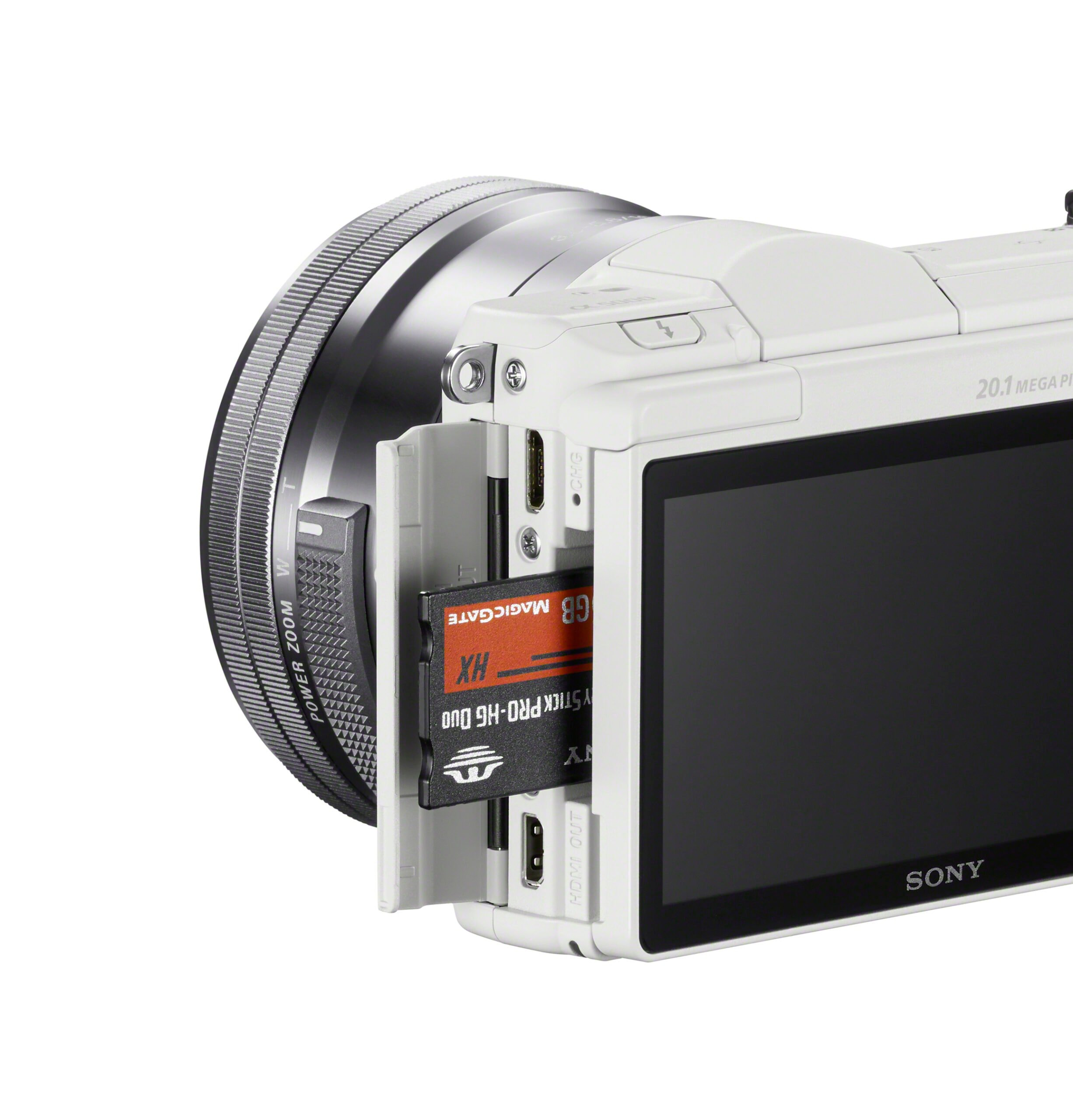 Sony a5000 Side Memory Cards White