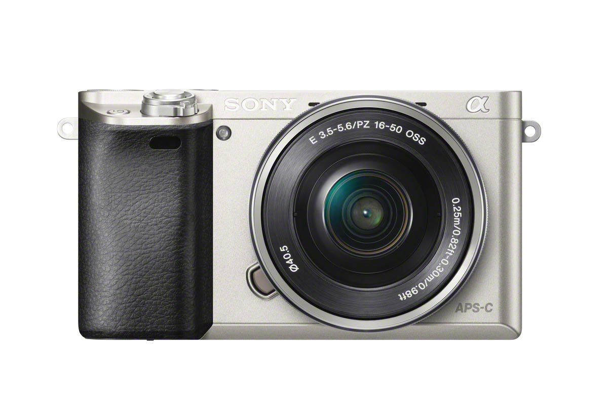 Sony a6000 SELP1650 Front Silver