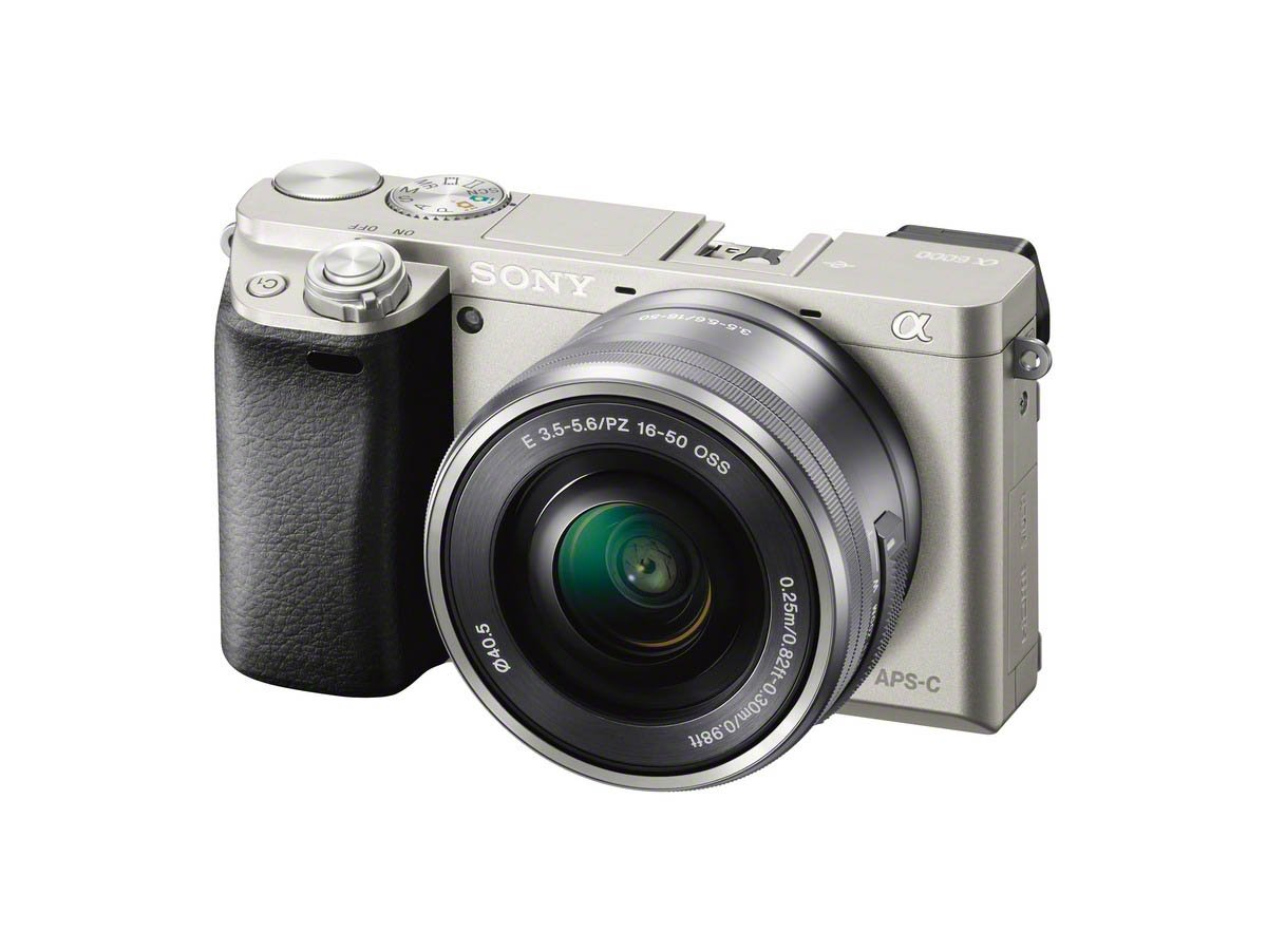 Sony a6000 SELP1650 Right Silver
