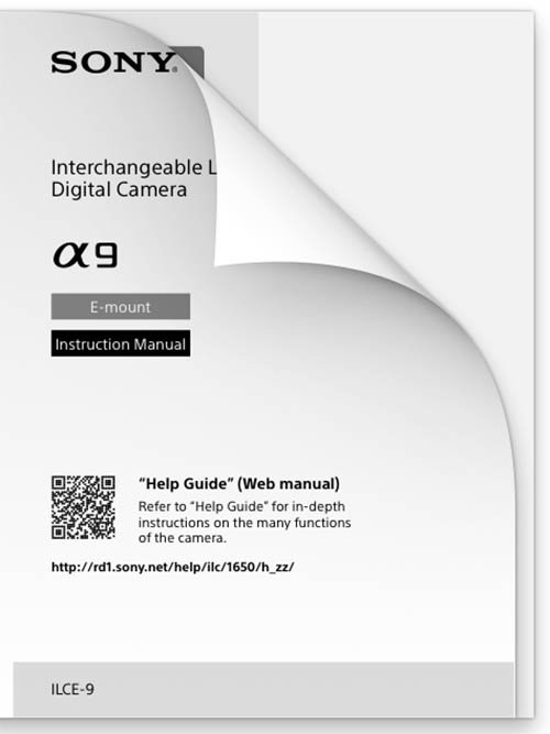 Sony a9 Manual