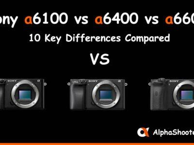 Sony a6100 vs a6400 vs a6600