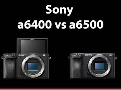 sony a6400 vs a6500