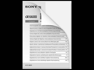 Sony a6600 Manual