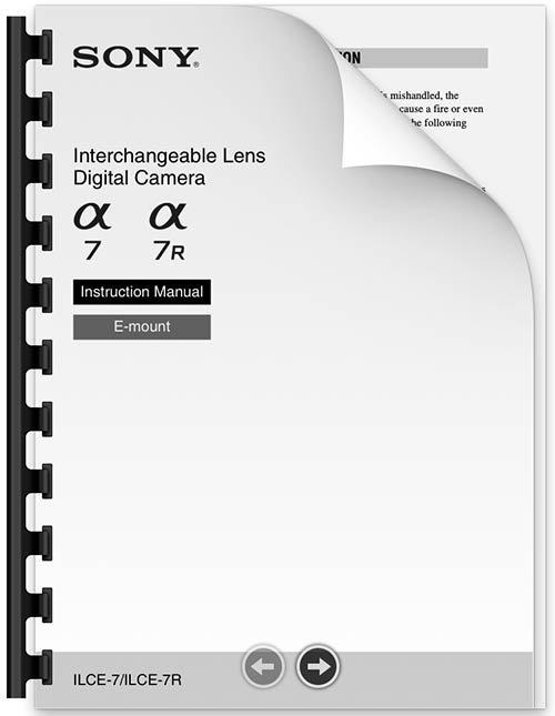 Sony a7R Manual