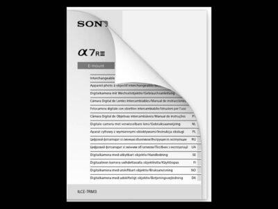 Sony a7R III Manual