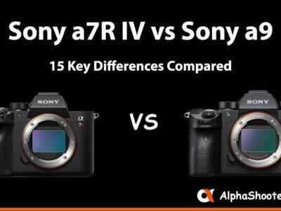Sony a7R IV vs a9