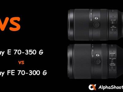 Sony E 70-350 G vs FE 70-300 G