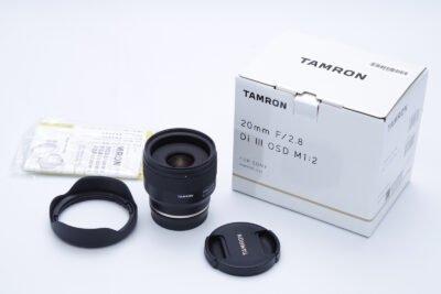 Tamron 20mm F2.8 Box Contents