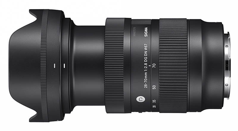 Sigma 28-70mm F2.8 DG on Camera DN Lens Extended