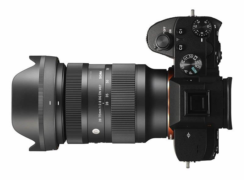Sigma 28-70mm F2.8 DG on Camera DN Lens on Camera