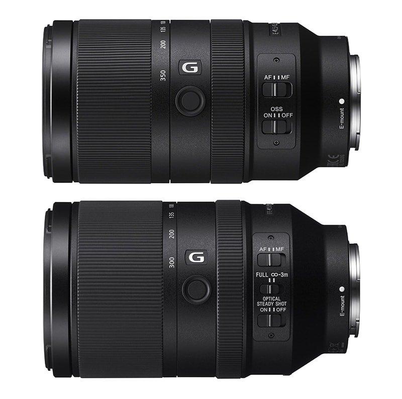 Sony E 70-350mm F4.5-6.3 G vs FE 70-300 F4.5-5.6 G Comparison
