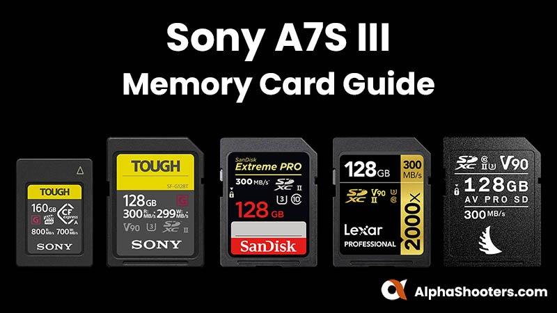 Sony A7S III Memory Cards