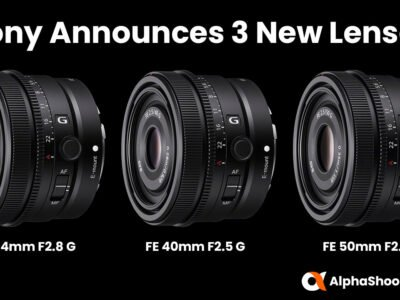 Sony FE 24mm F2.8 G, FE 40mm F2.5 G and FE 50mm F2.5 G Announced