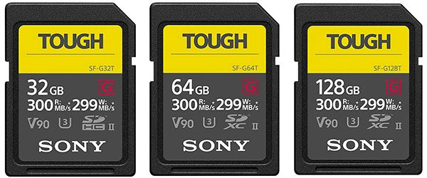 sony sf-g tough UHS-II memory cards