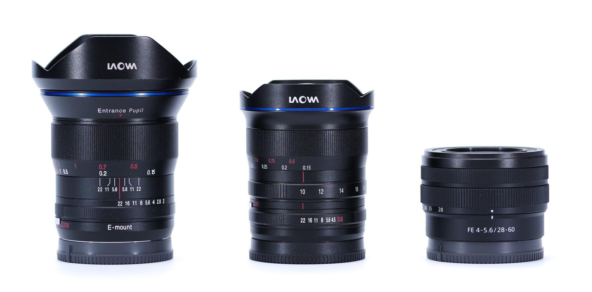 Laowa 10-18mm side by side