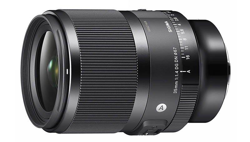SIGMA 35mm F1.4 DG DN Lens Front