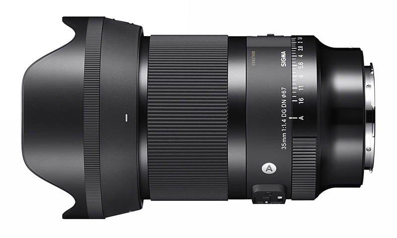 SIGMA 35mm F1.4 DG DN Lens Side