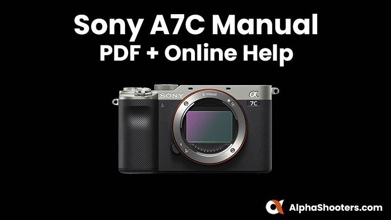 Sony a7C Manual