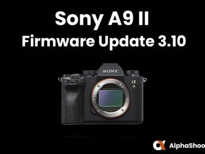 Sony a9II Firmware Update