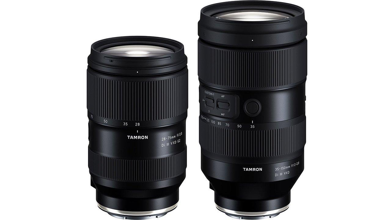 Tamron 35-150mm F2-2.8 Di III VXD and 28-75mm F/2.8 Di III VXD G2