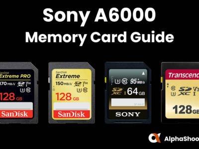 Sony 6000 Memory Cards