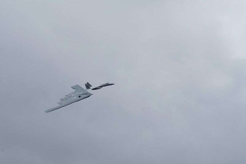 B-2 Stealth Bomber taken with Sony a6500 and SEL70300G Lens