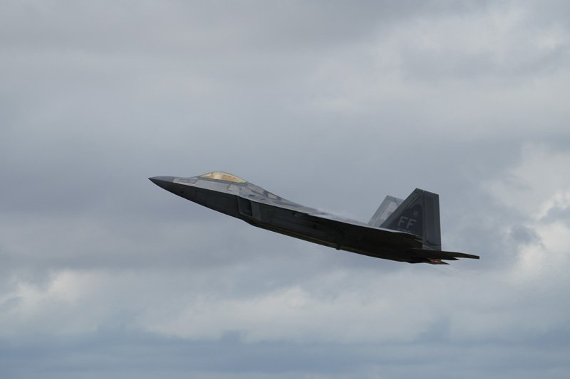 F22 Raptor Jet taken with Sony a6500 and SEL70300G Lens