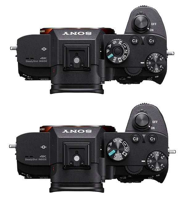 sony a7iii vs a7riii comparison body top